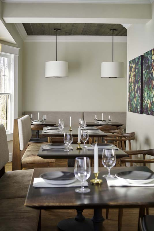 restaurant dining room custom interior design