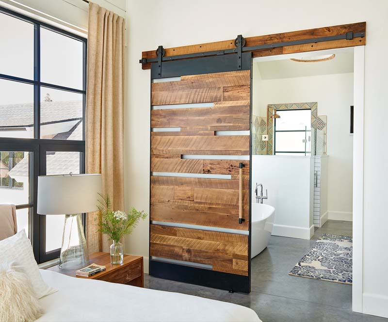 custom sliding wood door