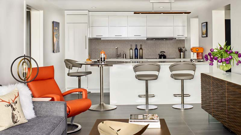 orange accent for interior design components