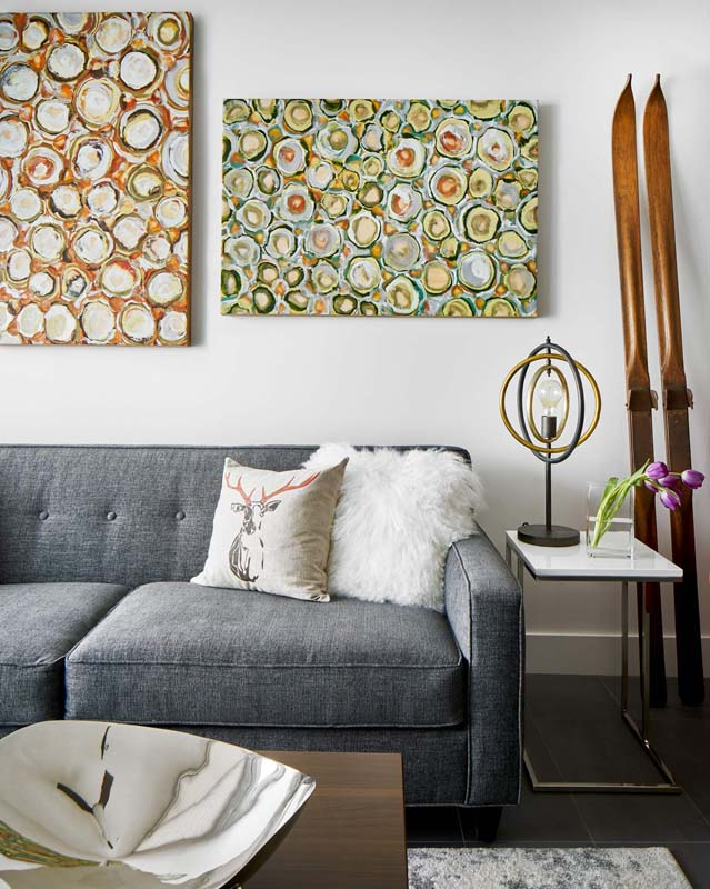 paintings are artwork incorporate to design this living space