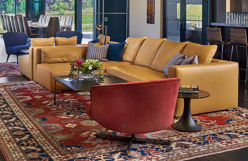 commercial design rug chairs couch