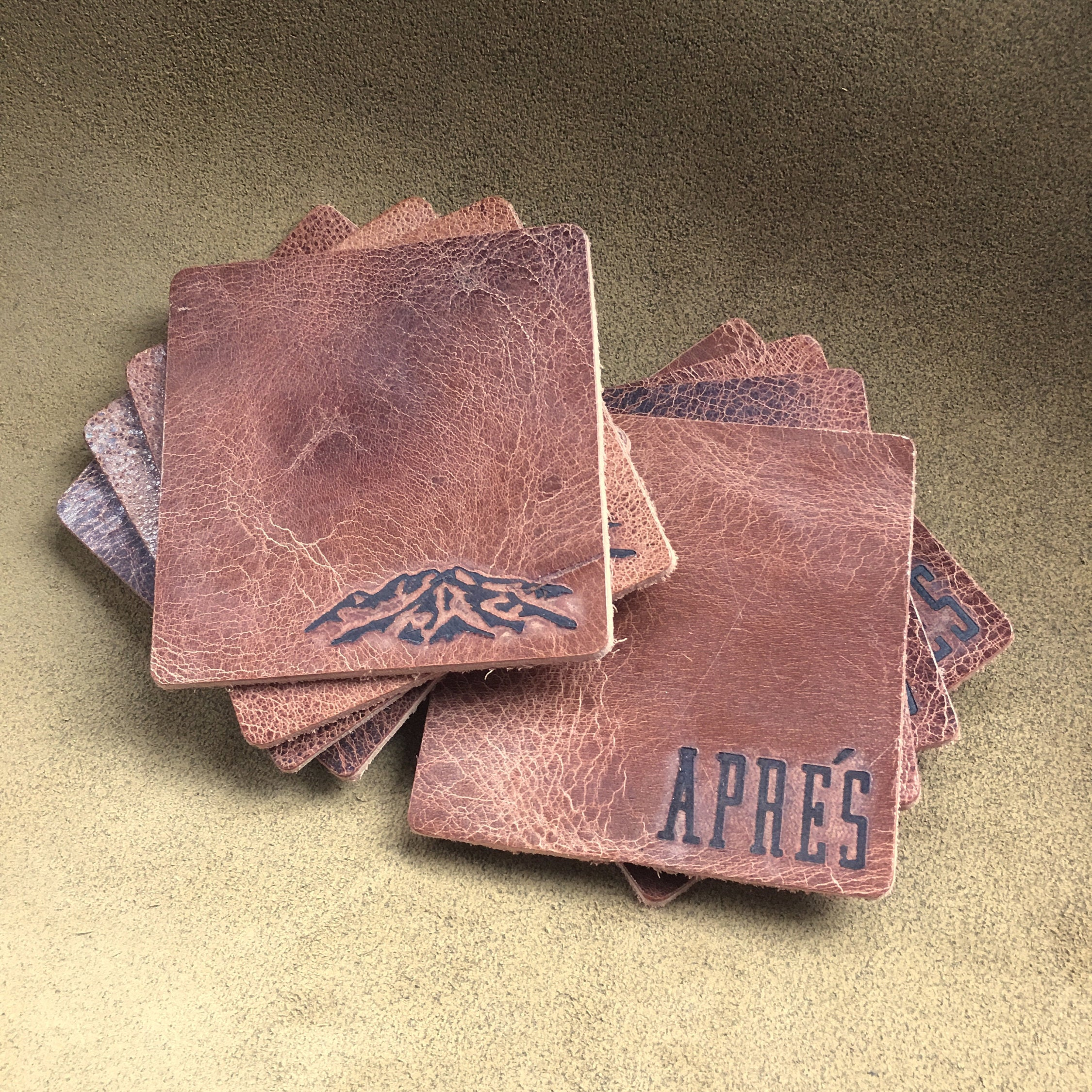 Colemans Buffalo Leather Coasters