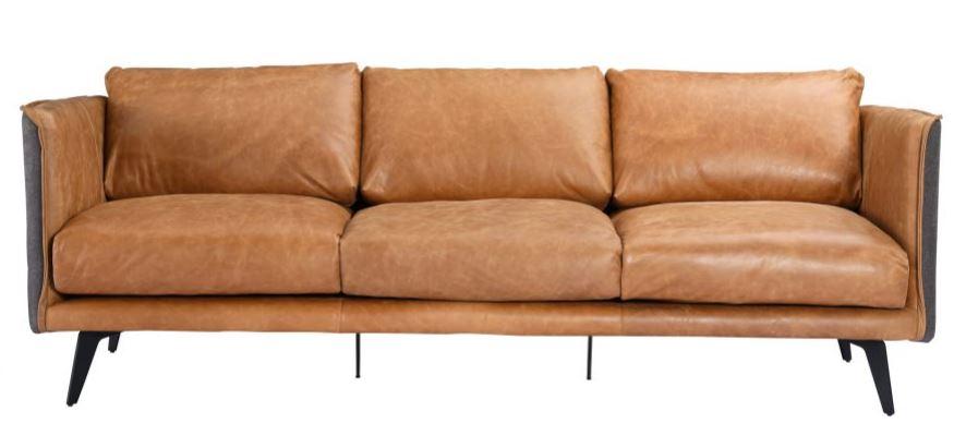 Moes' Leather Sofa